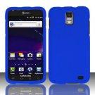 Hard Rubber Feel Plastic Case for Samsung Galaxy S II Skyrocket i727 (AT&T) - Blue