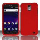 Hard Rubber Feel Plastic Case for Samsung Galaxy S II Skyrocket i727 (AT&T) - Red