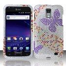 Hard Rhinestone Design Case for Samsung Galaxy S II Skyrocket i727 (AT&T) - Purple Butterfly