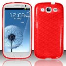TPU Crystal Gel Case for Samsung Galaxy S3 III i9300 - Red