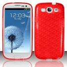 TPU Crystal Gel Case for Samsung Galaxy S3 III i9300 - Red