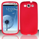 Soft Premium Silicone Case for Samsung Galaxy S3 III i9300 - Red