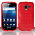 TPU Crystal Gel Case for Samsung Exhilarate i577 (AT&T) - Red
