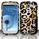 Hard Rubber Feel Design Case for Samsung Galaxy S3 III i9300 - Cheetah