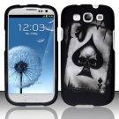 Hard Rubber Feel Design Case for Samsung Galaxy S3 III i9300 - Spade Skull