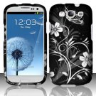 Hard Rubber Feel Design Case for Samsung Galaxy S3 III i9300 - Midnight Garden