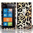 Hard Rubber Feel Design Case for Nokia Lumia 900 (AT&T) - Cheetah