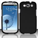Hard Rubber Feel Plastic Case for Samsung Galaxy S3 III i9300 - Black