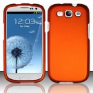 Hard Rubber Feel Plastic Case for Samsung Galaxy S3 III i9300 - Orange