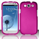 Hard Rubber Feel Plastic Case for Samsung Galaxy S3 III i9300 - Pink