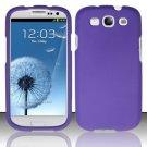 Hard Rubber Feel Plastic Case for Samsung Galaxy S3 III i9300 - Purple