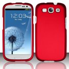 Hard Rubber Feel Plastic Case for Samsung Galaxy S3 III i9300 - Red