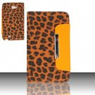 Leather Magnetic Flap Pouch for Samsung Galaxy S3 III i9300 - Gold Leopard