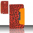 Leather Magnetic Flap Pouch for Samsung Galaxy S3 III i9300 - Red Leopard