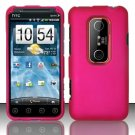 Hard Rubber Feel Plastic Case for HTC EVO 3D (Sprint) - Pink