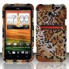 Hard Rhinestone Design Case for HTC EVO 4G LTE (Sprint) - Cheetah
