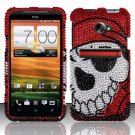 Hard Rhinestone Design Case for HTC EVO 4G LTE (Sprint) - Pirate Skull
