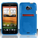 TPU Crystal Gel Case for HTC EVO 4G LTE (Sprint) - Blue
