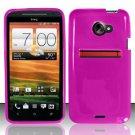 TPU Crystal Gel Case for HTC EVO 4G LTE (Sprint) - Pink