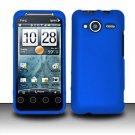Hard Rubber Feel Plastic Case for HTC EVO Shift 4G - Blue