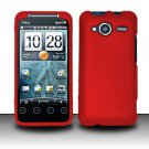 Hard Rubber Feel Plastic Case for HTC EVO Shift 4G - Red