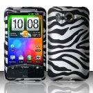 Hard Rubber Feel Design Case for HTC Inspire 4G/Desire HD - Zebra