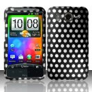 Hard Rubber Feel Design Case for HTC Inspire 4G/Desire HD - Polka Dots