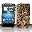 Hard Rhinestone Design Case for HTC Inspire 4G/Desire HD - Cheetah