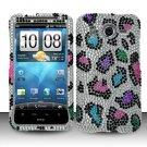 Hard Rhinestone Design Case for HTC Inspire 4G/Desire HD - Colorful Leopard