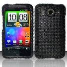 Hard Rhinestone Design Case for HTC Inspire 4G/Desire HD - Black