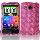 Hard Rhinestone Design Case for HTC Inspire 4G/Desire HD - Pink
