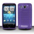 TPU Crystal Gel Case for HTC Inspire 4G/Desire HD - Purple