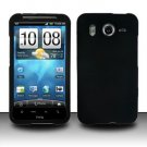 Hard Rubber Feel Plastic Case for HTC Inspire 4G/Desire HD - Black