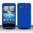 Hard Rubber Feel Plastic Case for HTC Inspire 4G/Desire HD - Blue