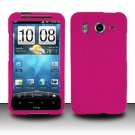 Hard Rubber Feel Plastic Case for HTC Inspire 4G/Desire HD - Pink