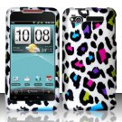 Hard Rubber Feel Design Case for HTC Merge - Colorful Leopard