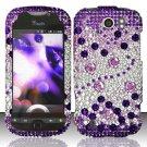 Hard Rhinestone Design case for HTC myTouch 4G (T-Mobile) - Purple Gems