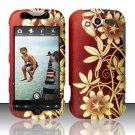 Hard Rubber Feel Design Case for HTC myTouch 4G (T-Mobile) - Bronze Garden
