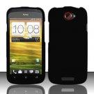 Hard Rubber Feel Plastic Case for HTC One S (T-Mobile) - Black