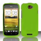 Hard Rubber Feel Plastic Case for HTC One S (T-Mobile) - Green
