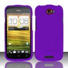 Hard Rubber Feel Plastic Case for HTC One S (T-Mobile) - Purple