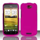 Hard Rubber Feel Plastic Case for HTC One S (T-Mobile) - Pink