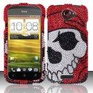 Hard Rhinestone Design Case for HTC One S (T-Mobile) - Pirate Skull