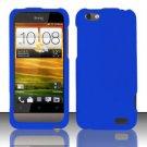 Hard Rubber Feel Plastic Case for HTC One V (Virgin Mobile) - Blue