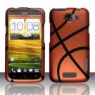 Hard Rubber Feel Design Case for HTC One X (AT&T) - Basketball
