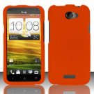 Hard Rubber Feel Plastic Case for HTC One X (AT&T) - Orange