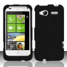 Hard Rubber Feel Plastic Case for HTC Radar 4G (T-Mobile) - Black