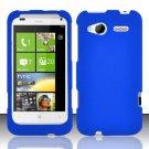 Hard Rubber Feel Plastic Case for HTC Radar 4G (T-Mobile) - Blue