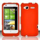 Hard Rubber Feel Plastic Case for HTC Radar 4G (T-Mobile) - Orange
