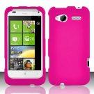 Hard Rubber Feel Plastic Case for HTC Radar 4G (T-Mobile) - Pink